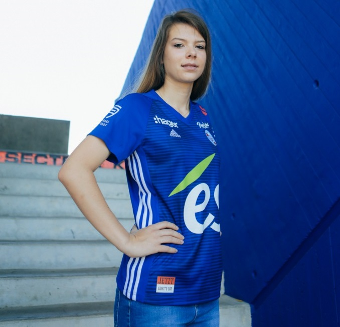 RC Strasbourg 2019 maillot domicile foot 18 19 Adidas