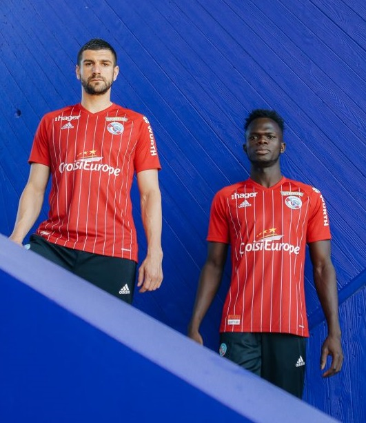 RC Strasbourg 2019 maillot third rouge