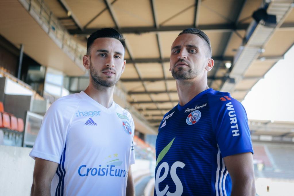 RC Strasbourg 2019 nouveaux maillots de foot officiels Adidas