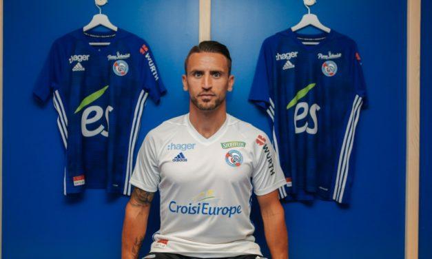 RC Strasbourg 2019 nouveaux maillots de football 18-19