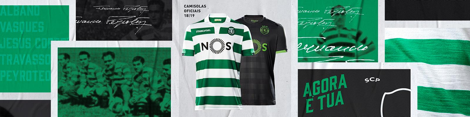 SCP 2019 maillots foot Sporting 18 19 Macron