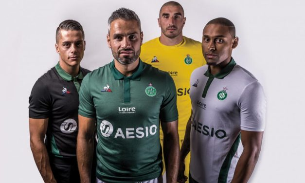 ASSE 2019 nouveaux maillots de football Saint-Etienne 18-19