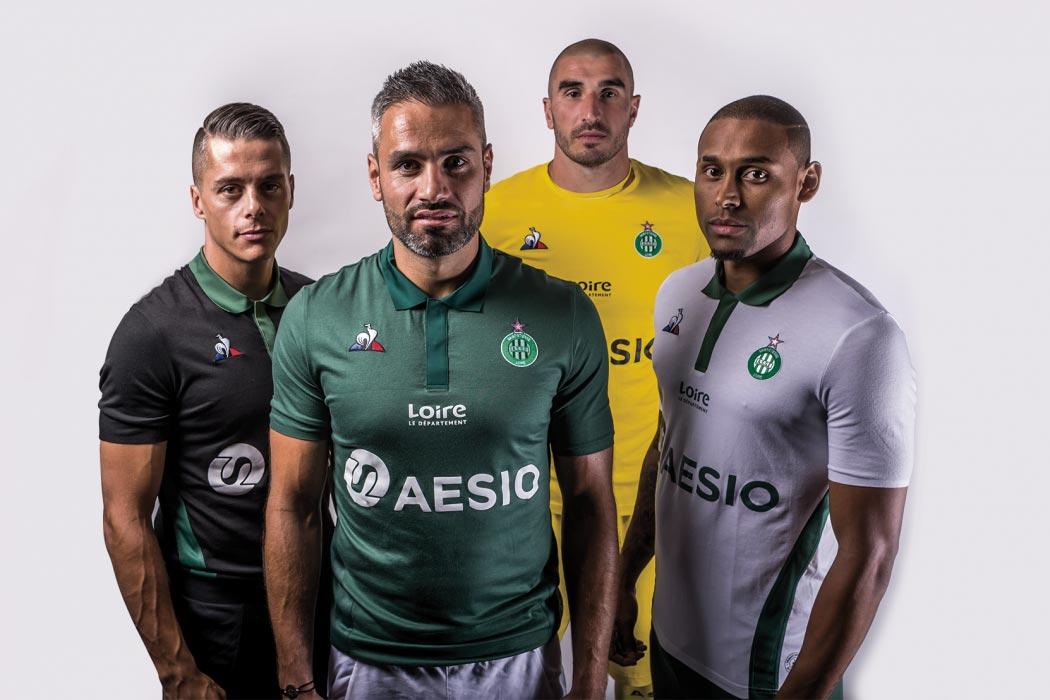 Saint Etienne 2019 nouveaux maillots de football