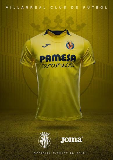Villareal 2019 maillot domicile 18 19