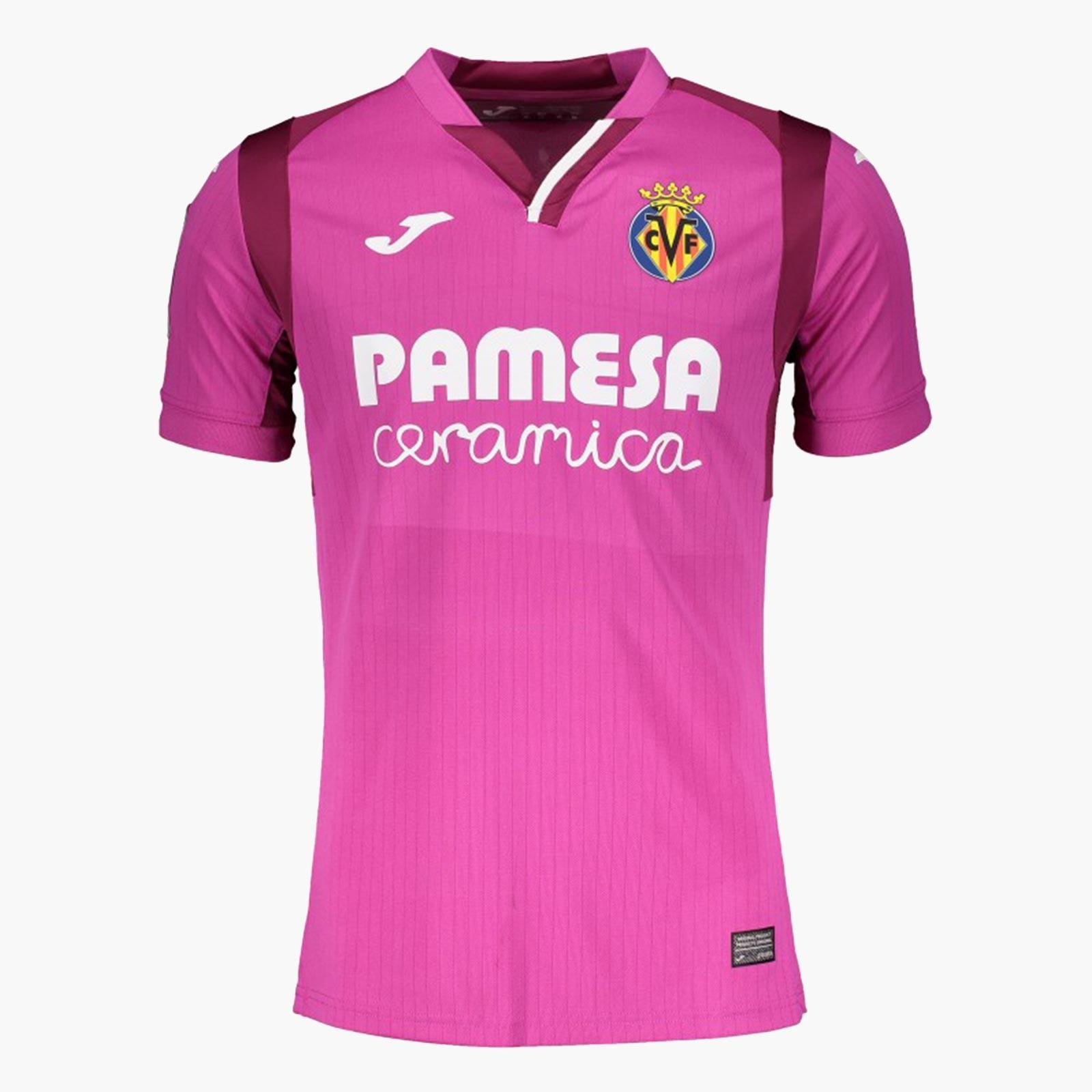 Villareal 2019 maillot exterieur 18 19 rose Joma