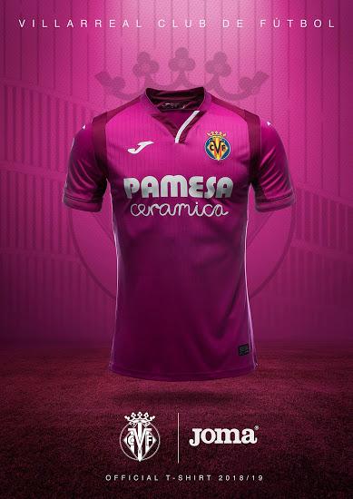 Villareal 2019 maillot exterieur 18 19 rose