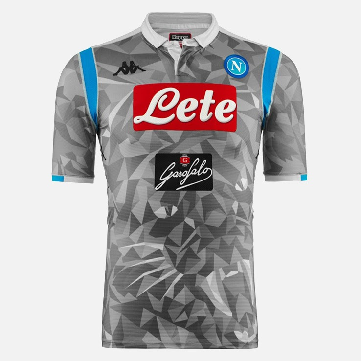 Naples 2019 maillot third gris 18 19