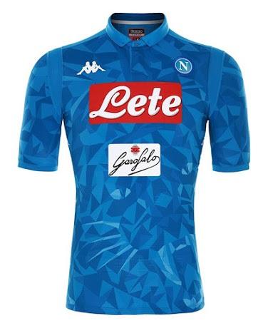 Naples 2019 nouveau maillot foot domicile 18 19