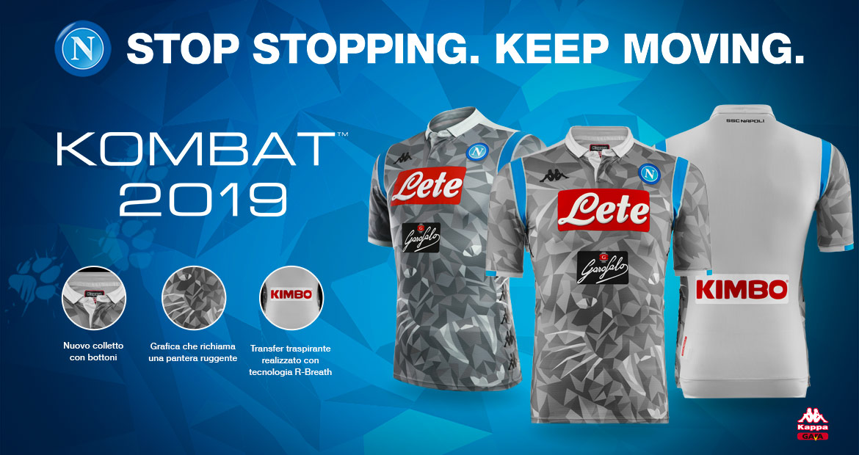 Naples 2019 troisieme maillot de football Kappa 18 19