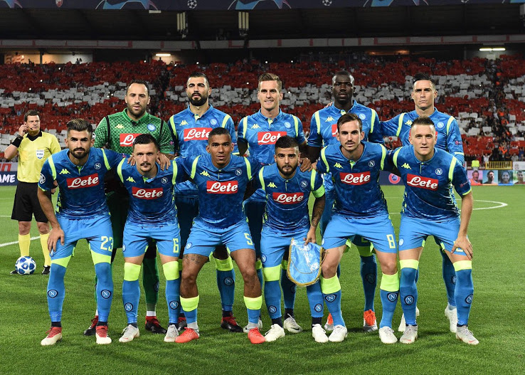 Napoli 2019 maillot ligue des champions bleu officiel