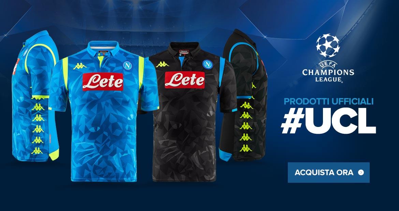 Napoli 2019 maillots champions league