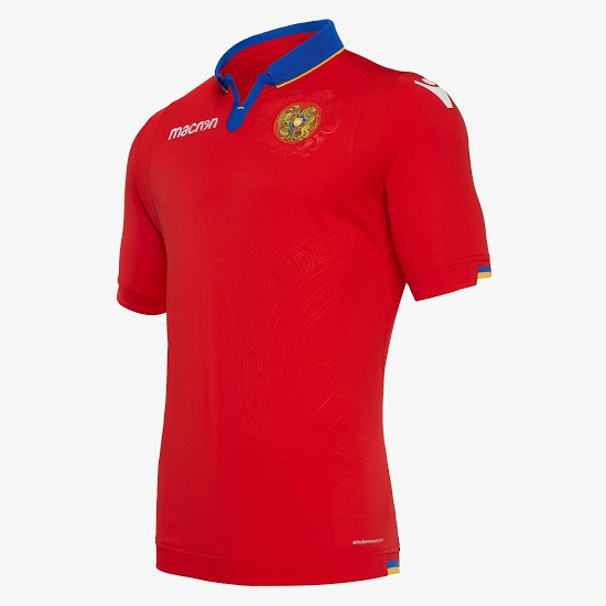 Armenie 2019 maillot domicile football