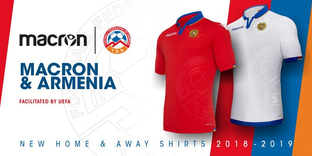 Armenie 2019 nouveaux maillots foot Macron