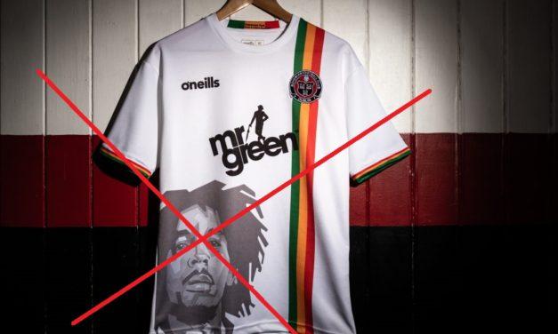Le maillot de foot Bob Marley du Bohemians FC 2019 annulé
