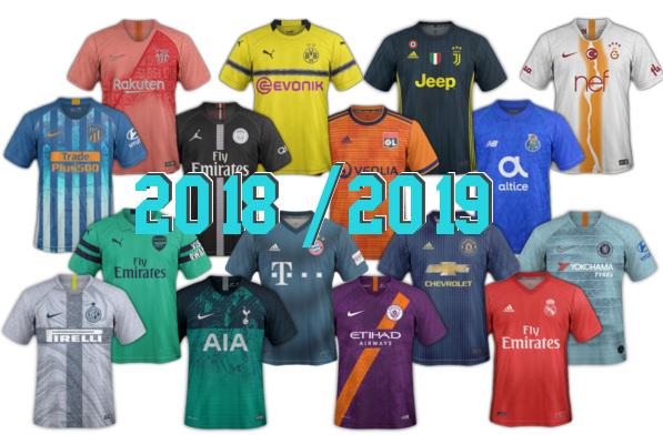 nouveaux maillots de football 2018-2019