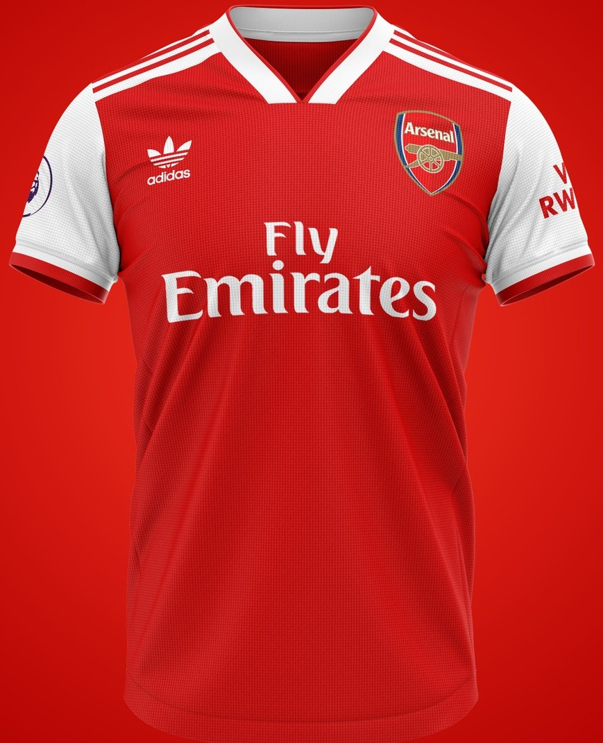 Arsenal 2020 possible maillot domicile foot