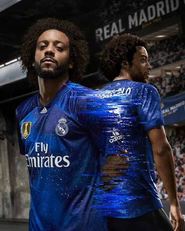 EA Sports maillot de foot Real Madrid Fifa 19 Marcelo