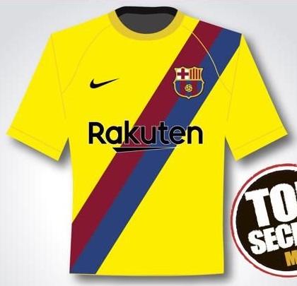 FC Barcelaone 2020 possible maillot exterieur
