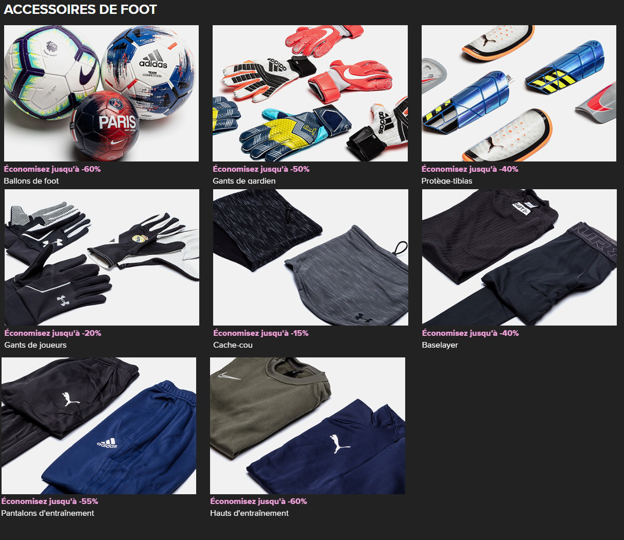accessoires football black friday