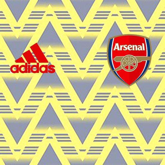 Arsenal 2020 motifs maillot foot exterieur 19 20