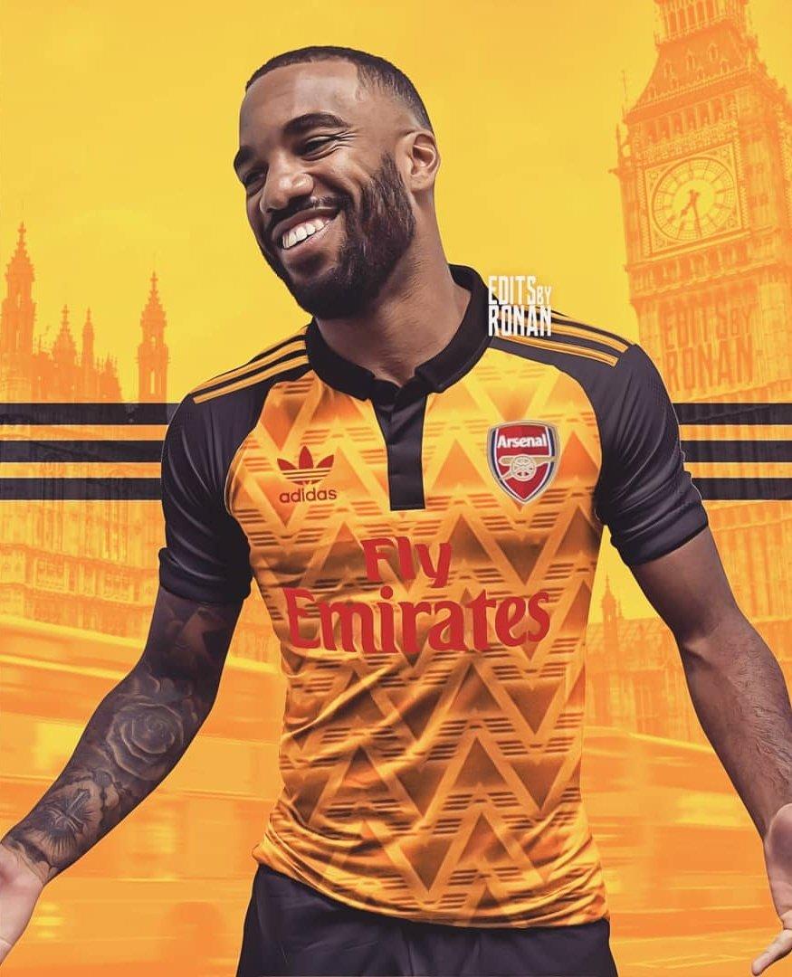 Arsenal 2020 possible maillot exterieur 19 20 Lacazette