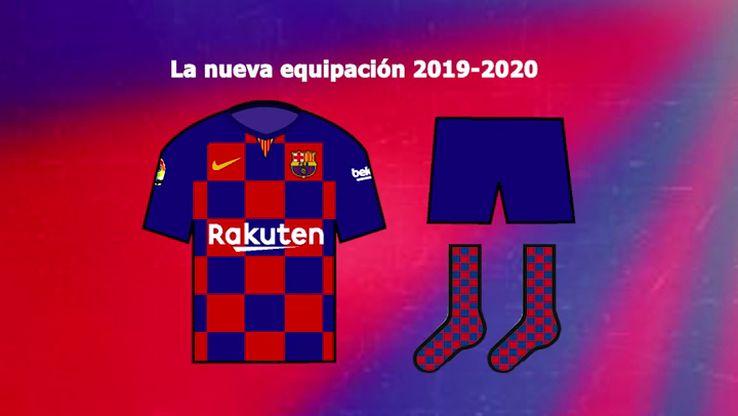 Barcelone 19 20 probable maillot domicile