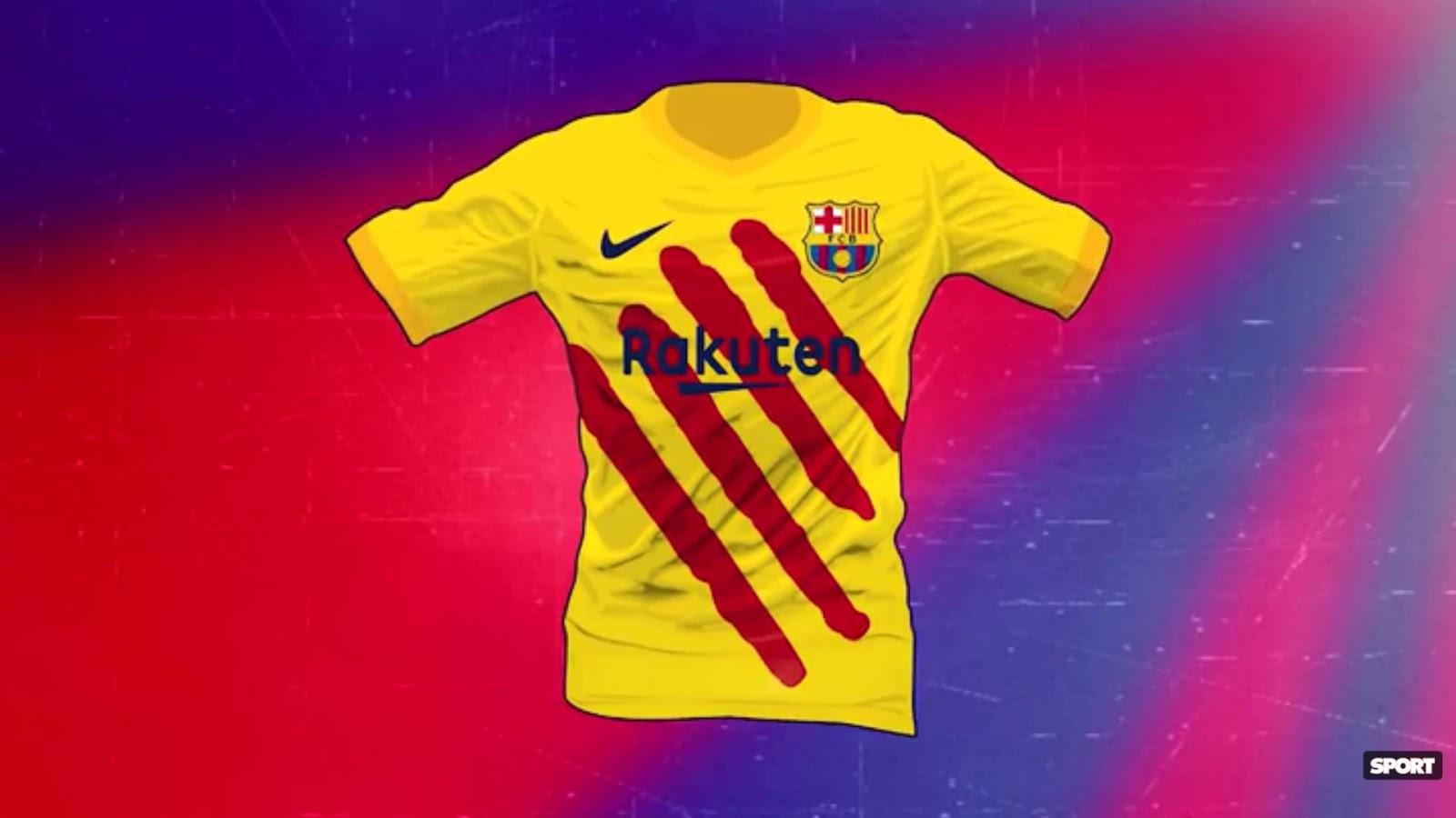Barcelone 2020 quatrième maillot senyera