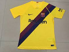 FC Barcelone 19 20 possible maillot exterieur jaune