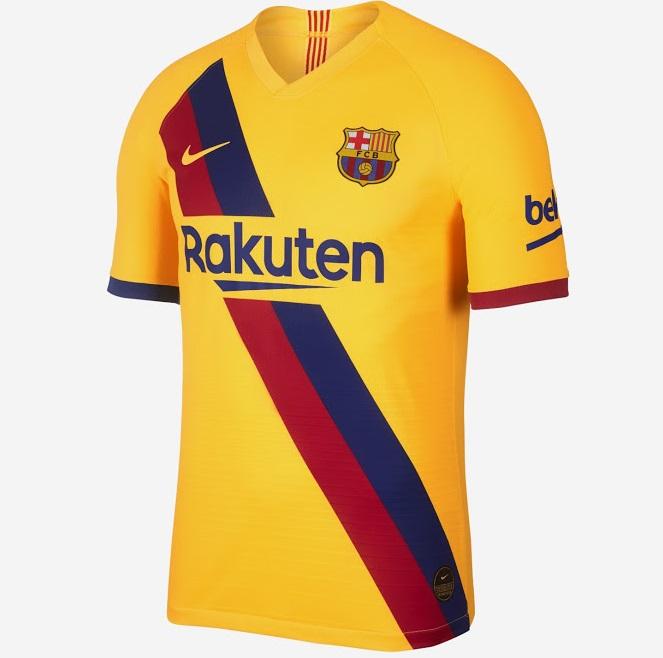 FC Barcelone 2020 nouveau maillot exterieur officiel