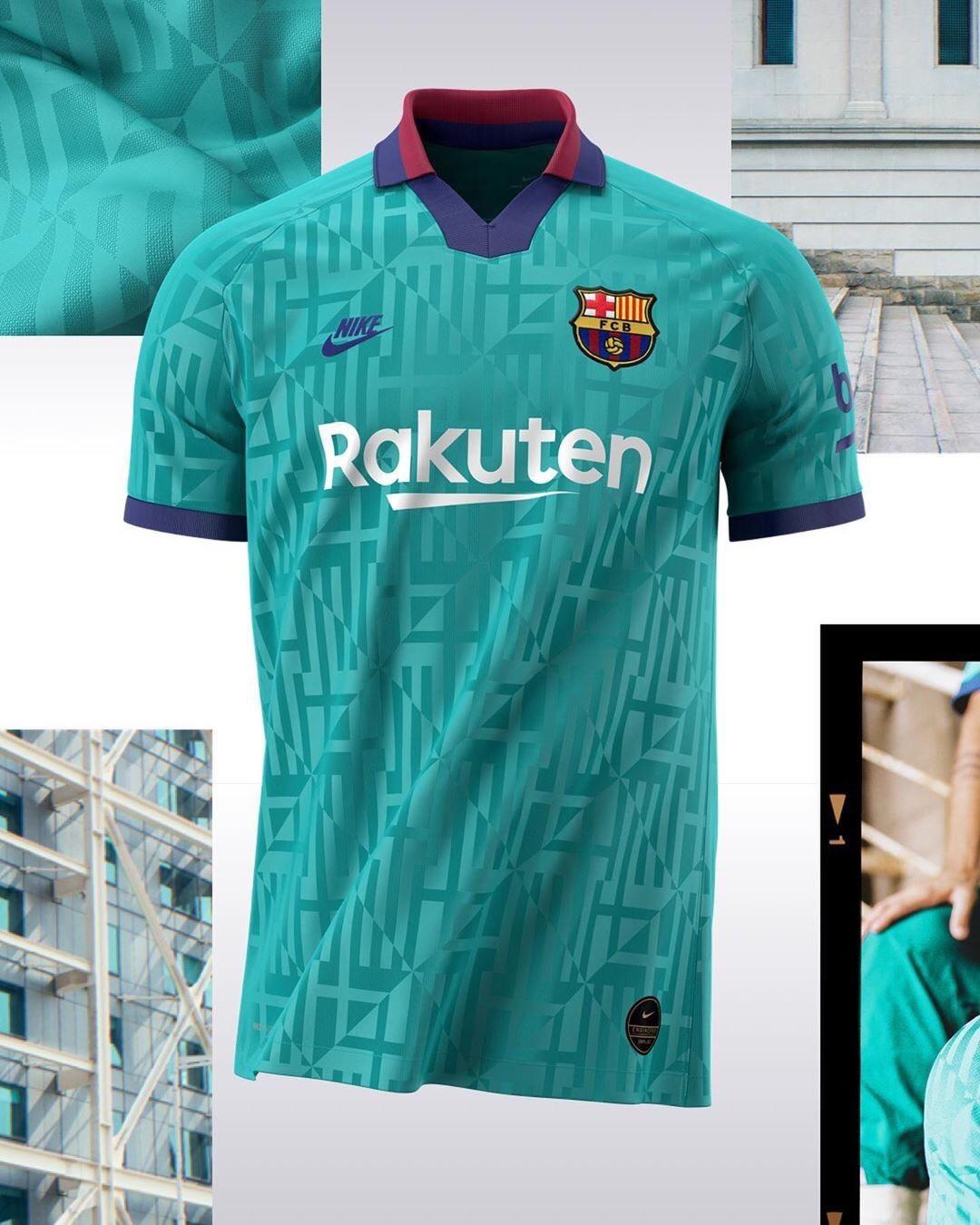 FC Barcelone 2020 nouveau maillot third officiel