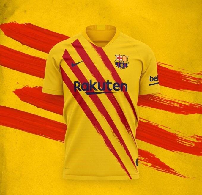 FC Barcelone 2020 quatrieme maillot foot Nike