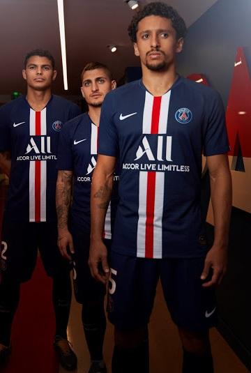 PSG 19 20 maillot foot domicile Paris Nike