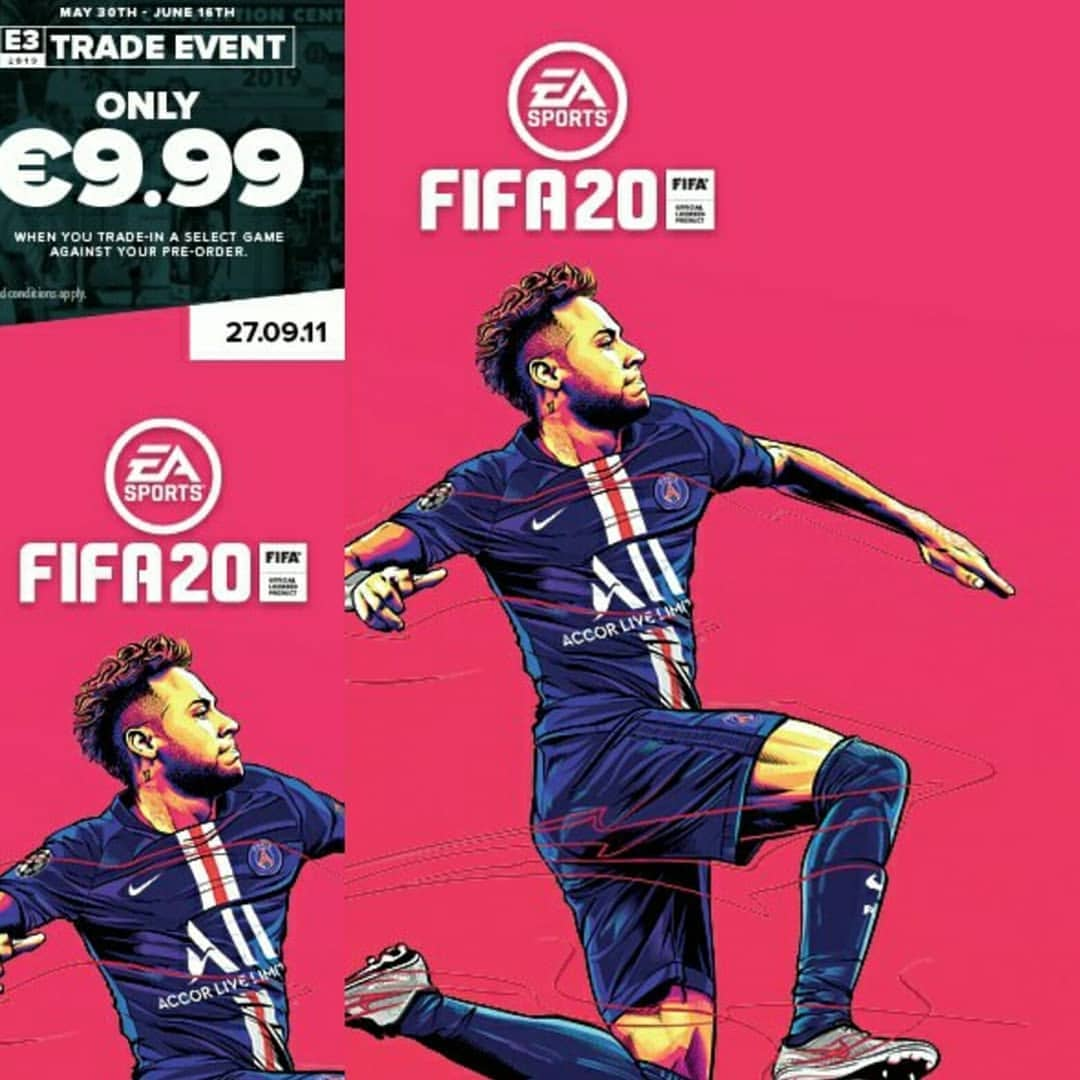 PSG 2020 Neymar Fifa 2020 cover