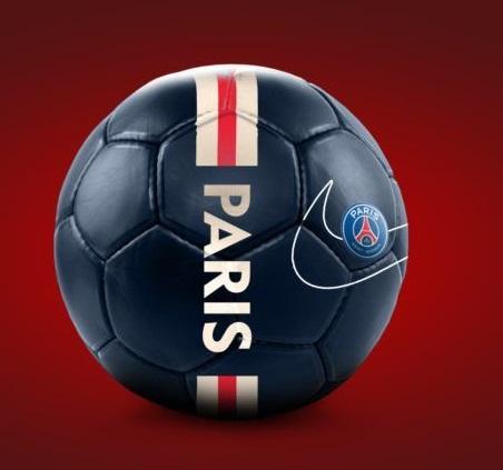 PSG 2020 ballon couleurs bande htecher