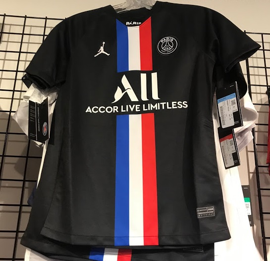 PSG 2020 quatrieme maillot fourth noir Jordan