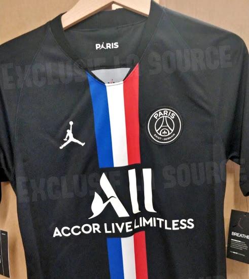 PSG 4eme maillot foot noir Nike 2020