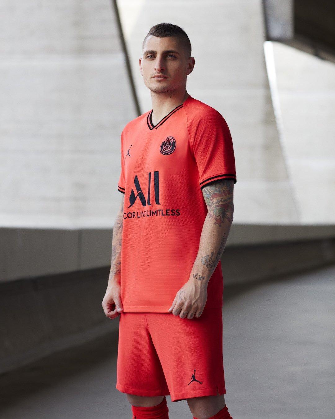 Paris Saint Germain 2020 maillot football exterieur Verratti