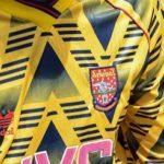 Arsenal 2020 maillot exterieur motif