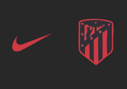 Atletico Madrid 2020 couleur maillot foot exterieur noir