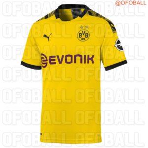 Borussia Dortmund 2020 maillot domicile foot