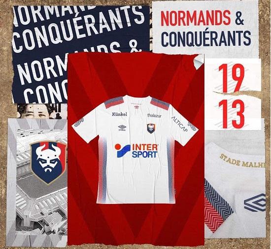 Caen 2019 2020 maillot exterieur football