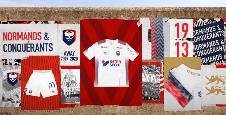 SM Caen 2020 nouveau maillot de foot 19 20