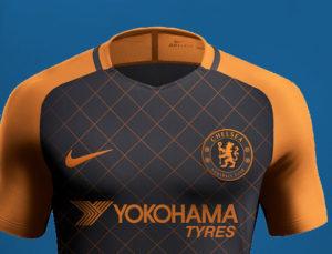 Chelsea 2020 couleurs 3eme maillot third noir orange