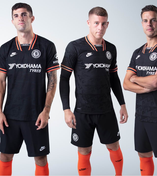 Chelsea 2020 troisieme maillot de football third officiel