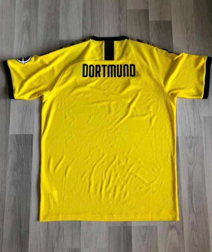 Dortmund 2020 dos maillot foot domicile BVB