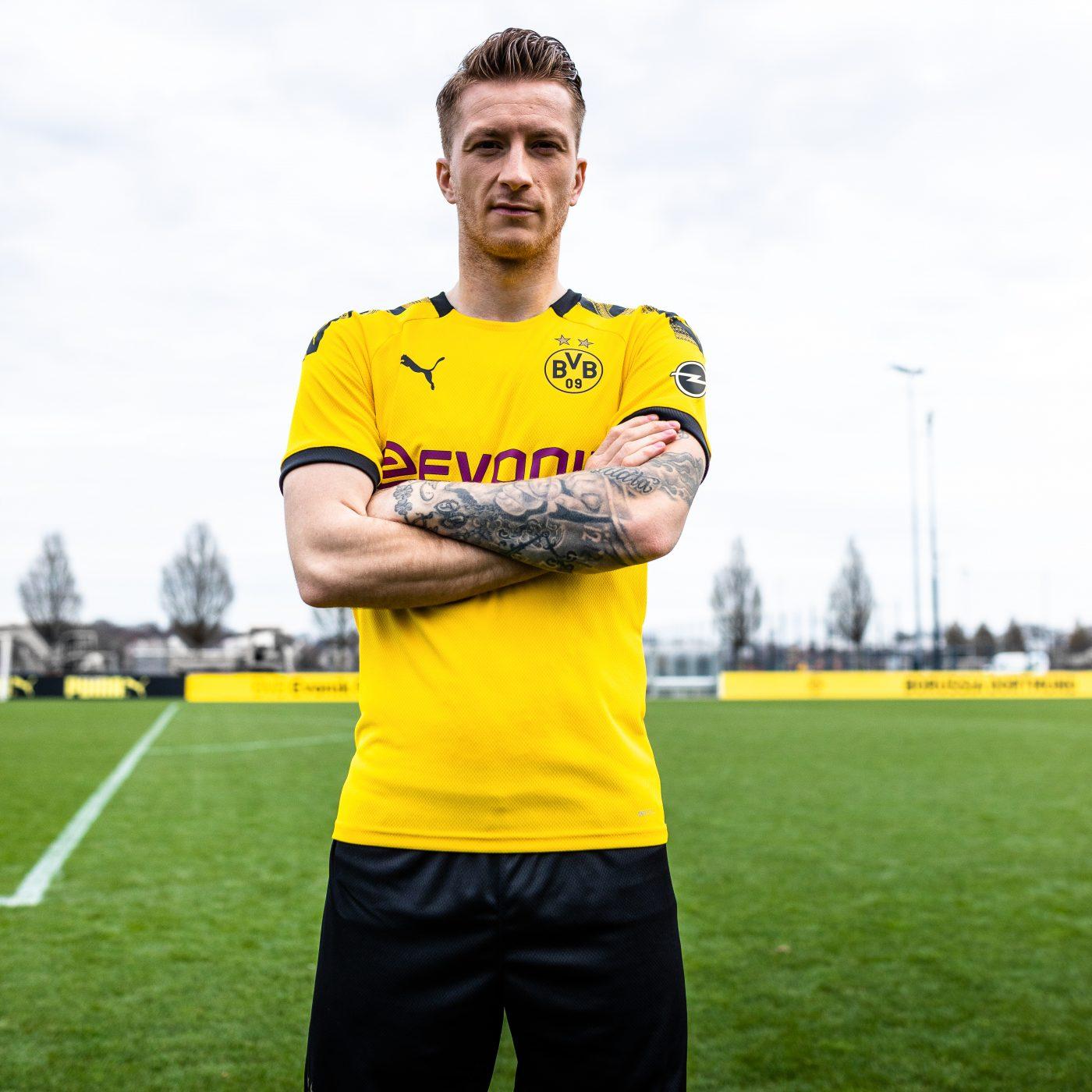 Dortmund 2020 maillot domicile foot