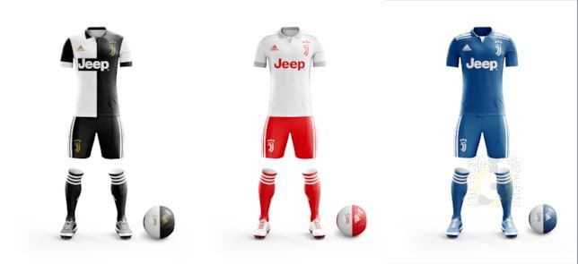 Juventus 2020 possibles maillots 19 20