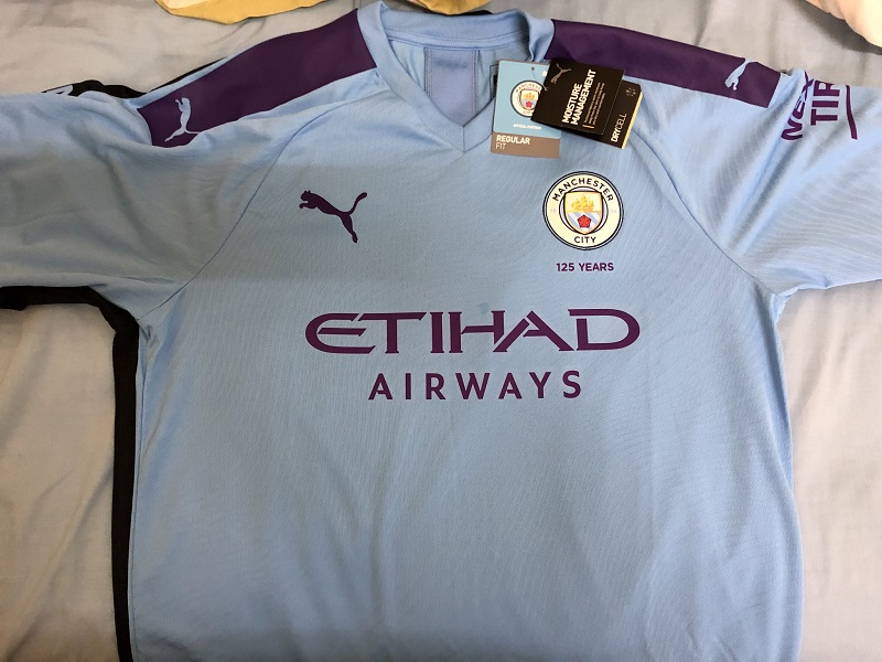 Manchester City 2019 2020 maillot domicile football