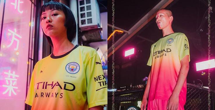 Manchester City 2019 2020 troisieme maillot third officiel football