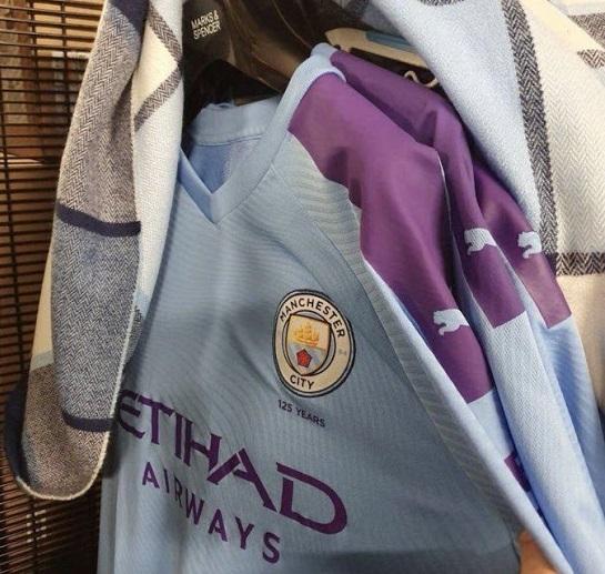 Manchester City 2020 nouveau maillot domicie fuite